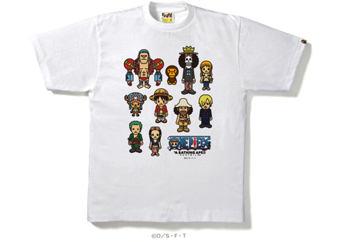 c5d96693 BAPE One Piece Straw Hat Pirates Tee White -
