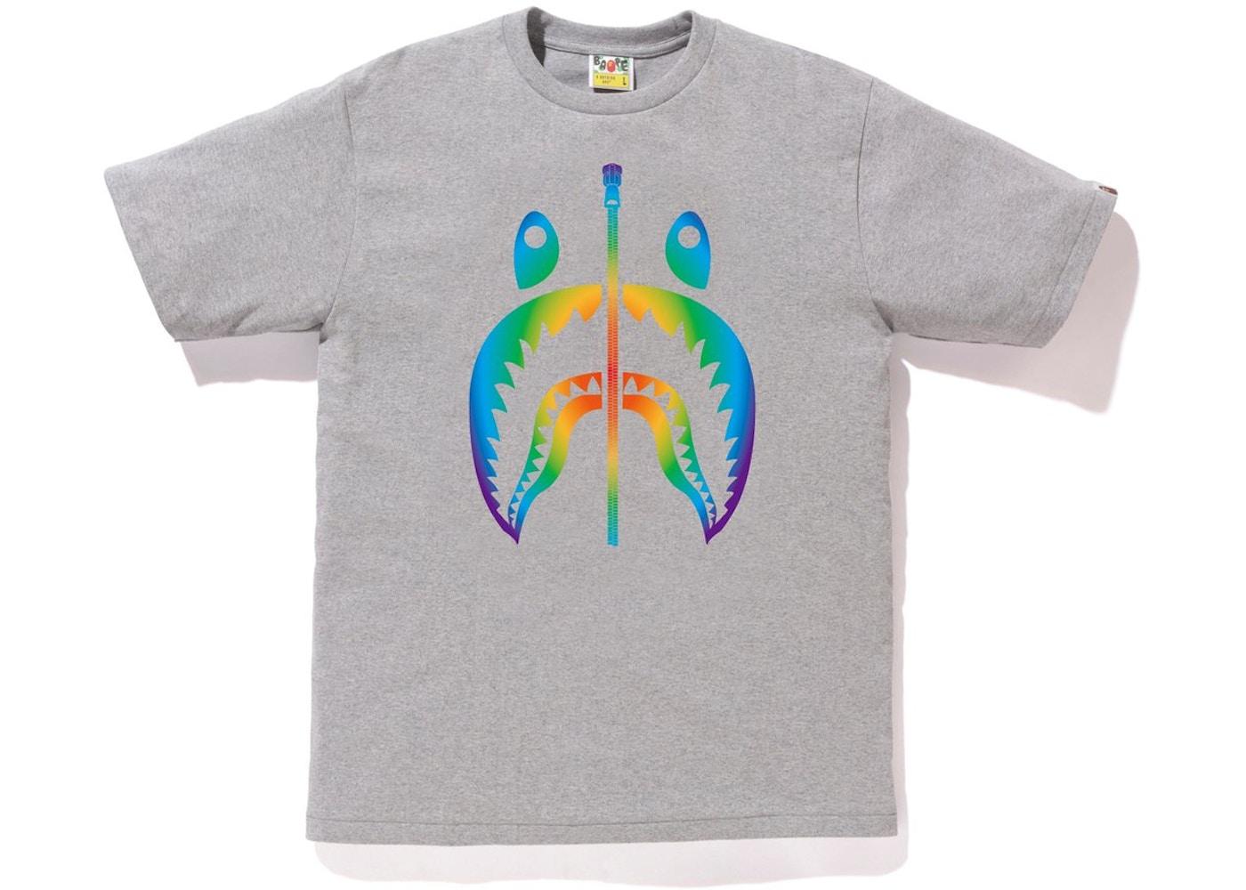 b064b11e366d0e Sell. or Ask. Size: XL. View All Bids. BAPE Rainbow Shark Tee Gray