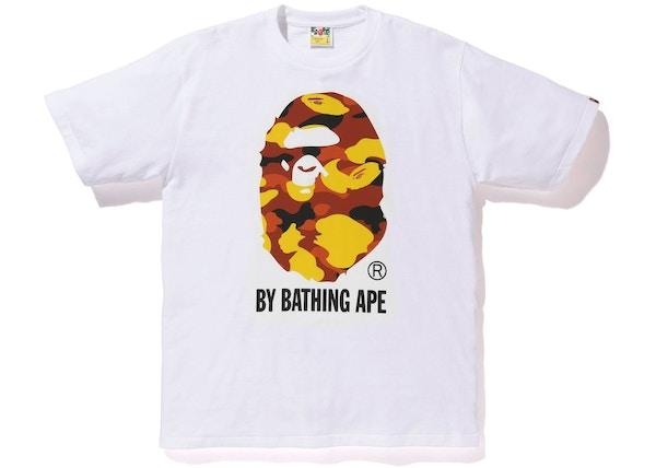 eea7e13d BAPE Reflector 1st Camo By Bathing Tee White/Orange