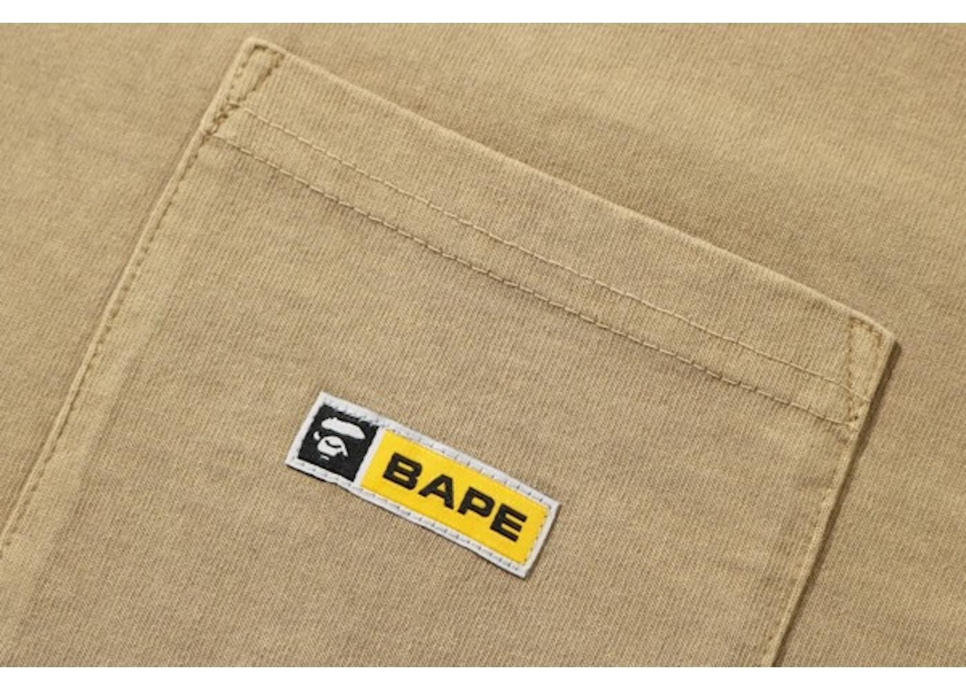 7b8290b1b BAPE Relaxed Pocket LS Tee Beige - SS19