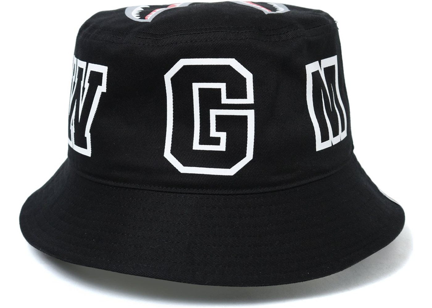 0ca23656 BAPE Shark Bucket Hat Black -