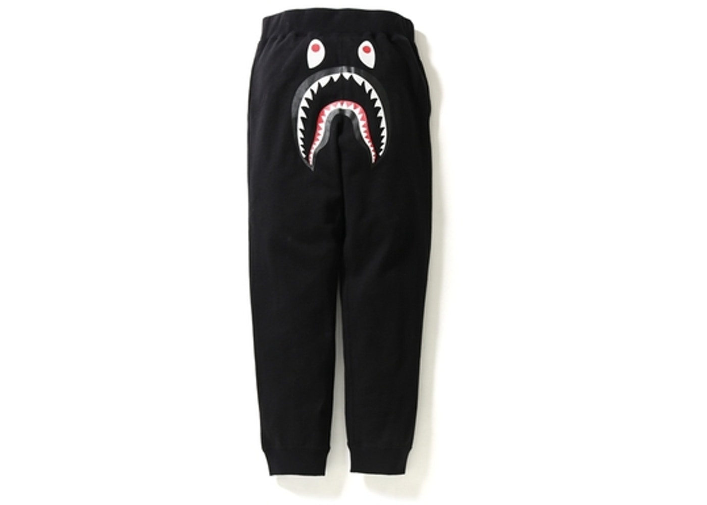 limited price first rate skate shoes BAPE Shark Slim Sweat Pants Black