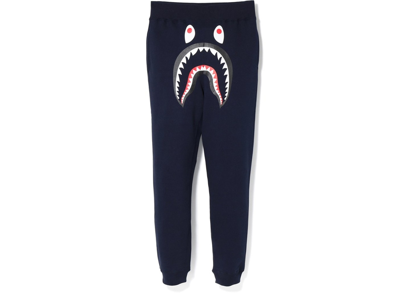 31f171f2 BAPE Shark Slim Sweat Pants Navy/Green - FW18
