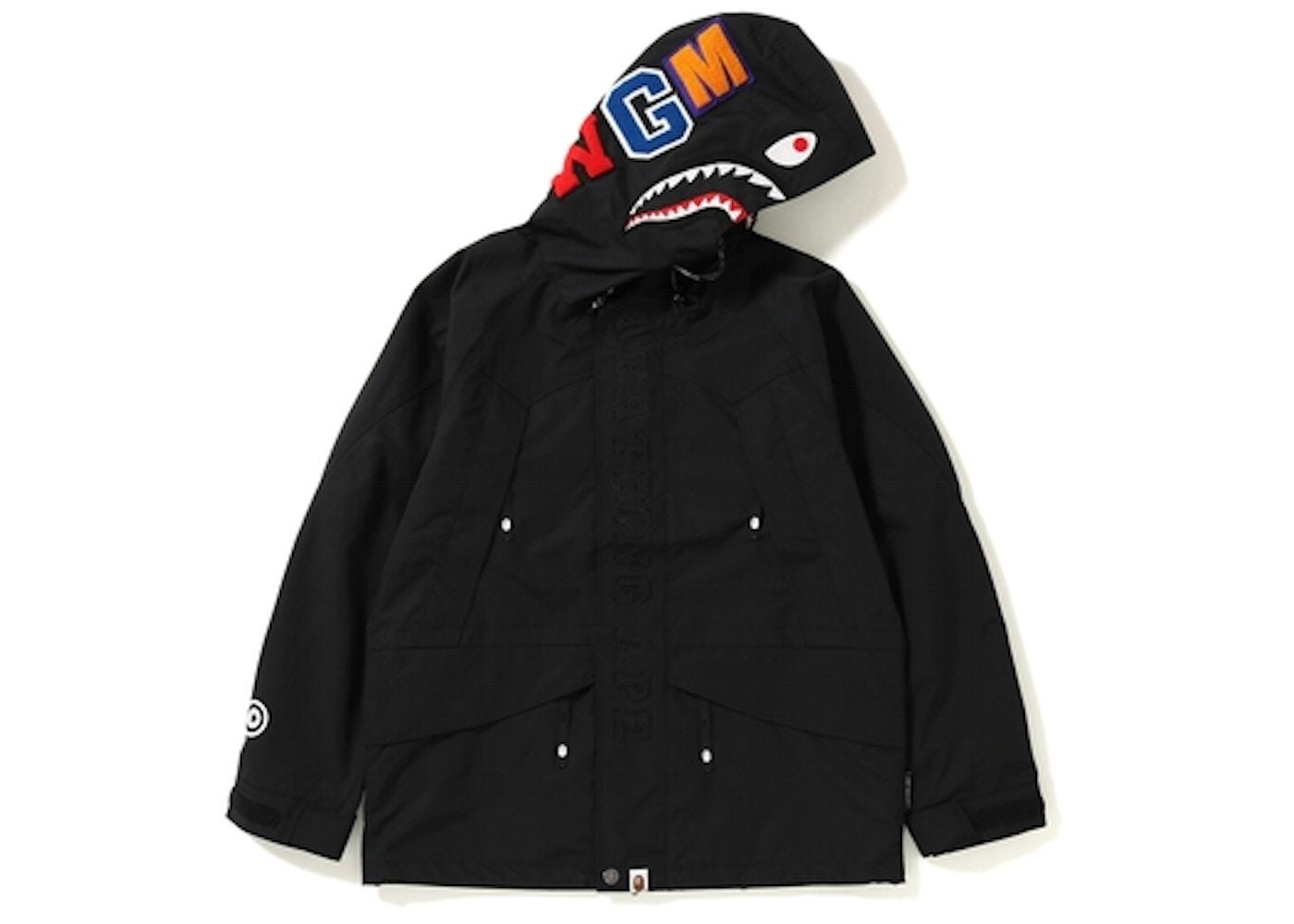 f3c4b93892dc BAPE Shark Snowboard Jacket Black. Shark Snowboard