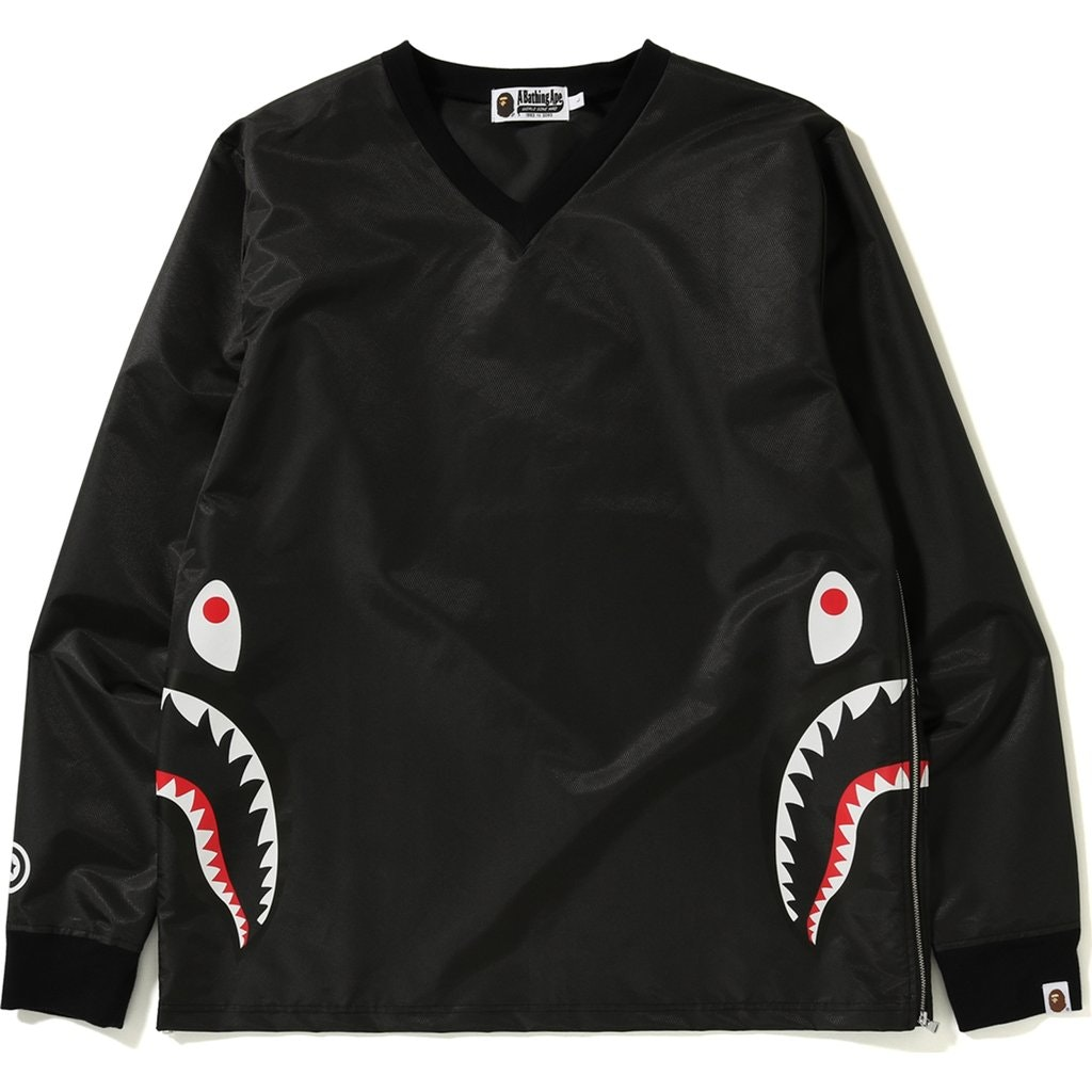 Bape Side Zip Shark Windbreaker Black