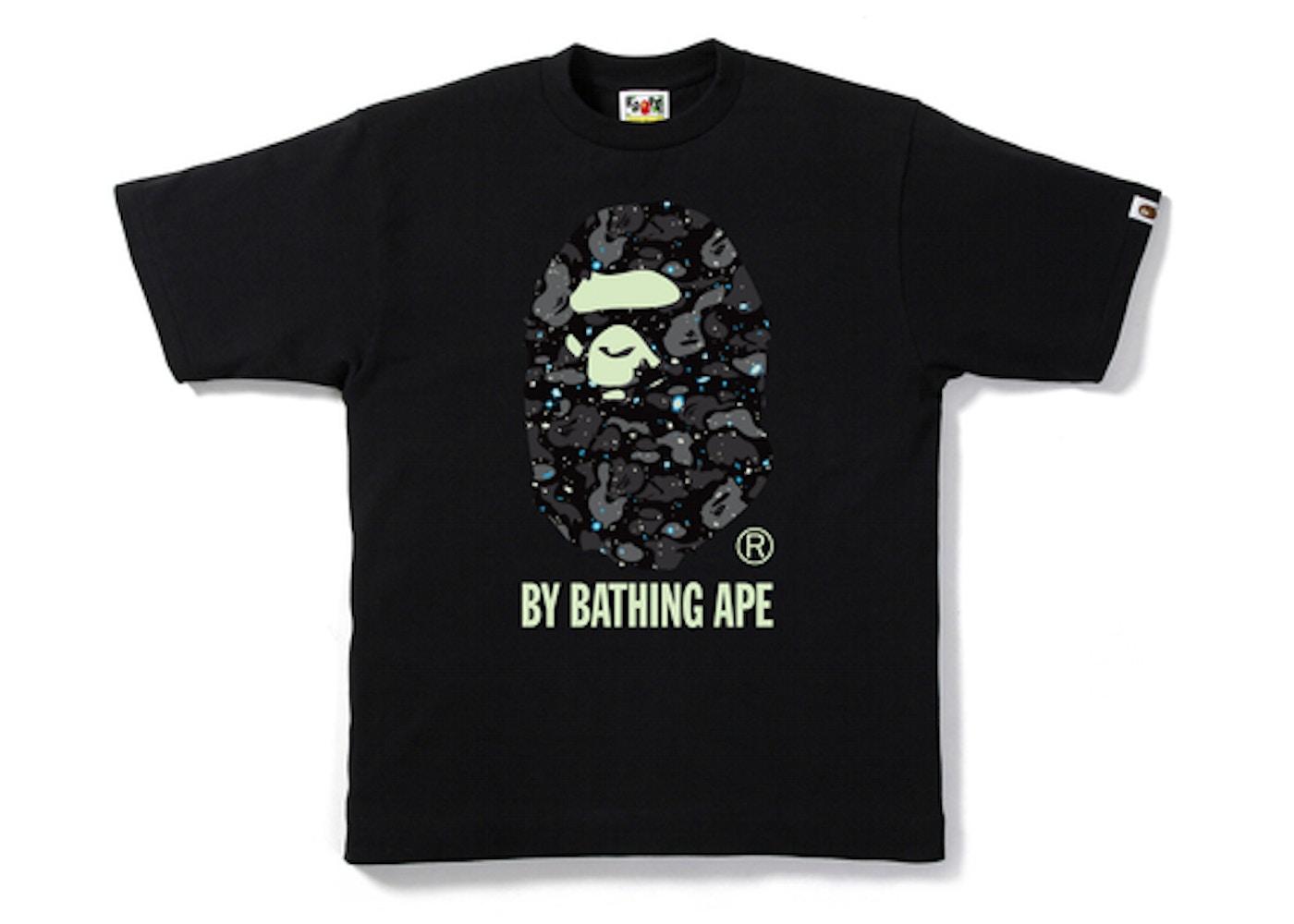 eee4fe6f BAPE Space Camo By Bathing Tee Black -