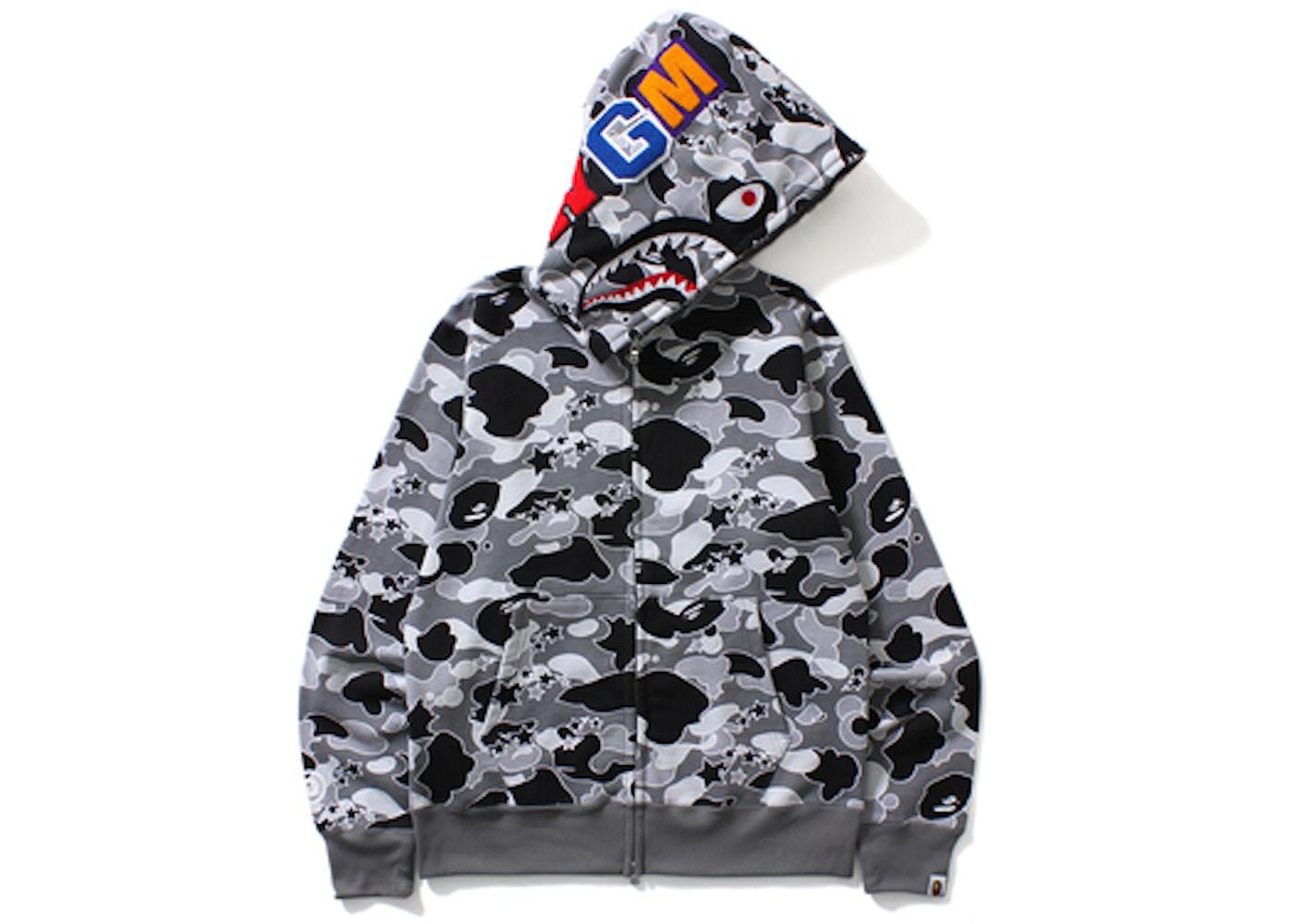 97ae1d1a BAPE Sta Camo Shark Full Zip Hoodie Black -
