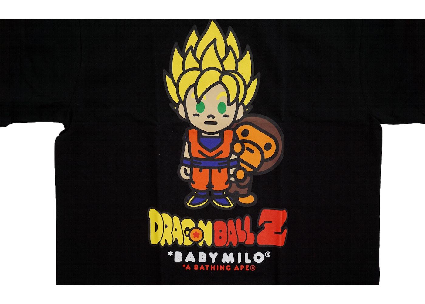 BAPE Dragon Ball Z Super Saiyan Goku Baby Milo Tee Black