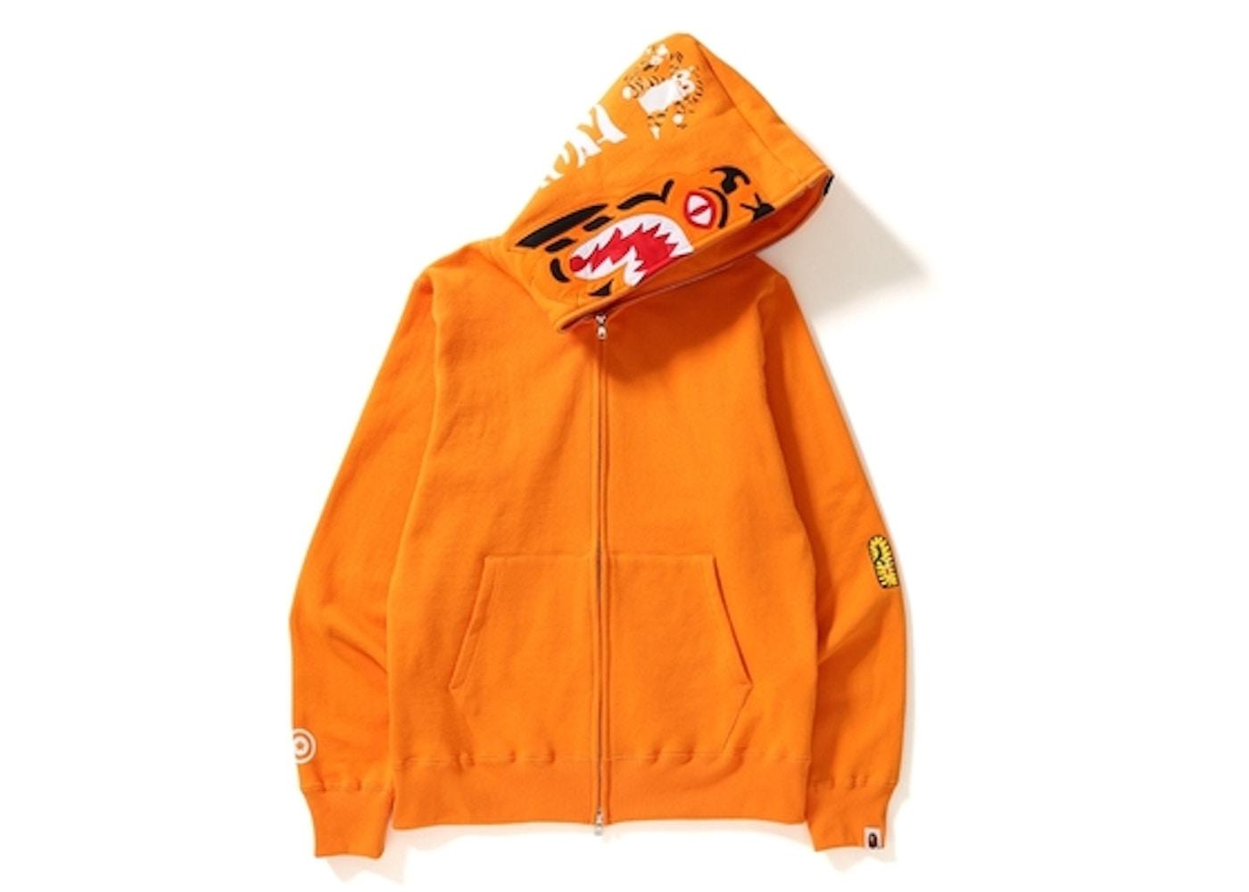 BAPE Tiger Full Zip Hoodie Orange. Tiger Full Zip 582a07d3762b