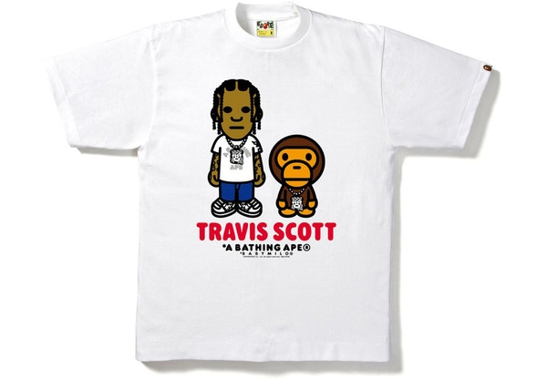 78b4af02b BAPE X ComplexCon Travis Scott Milo ComplexCon Exclusive Tee White