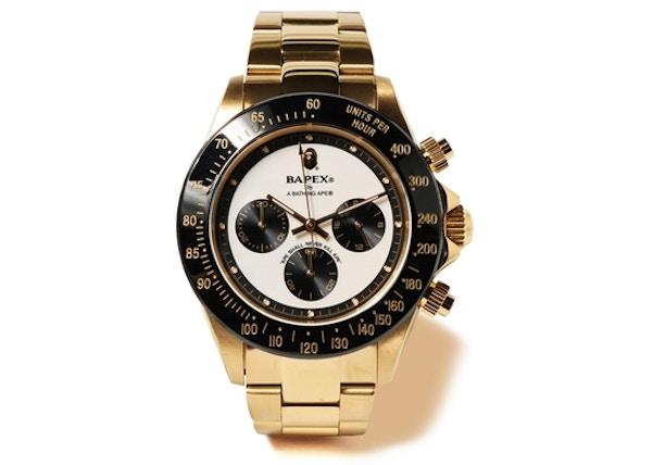 f0b7d346adb highest bid. $666. BAPE Type 4 Bapex Watch Gold