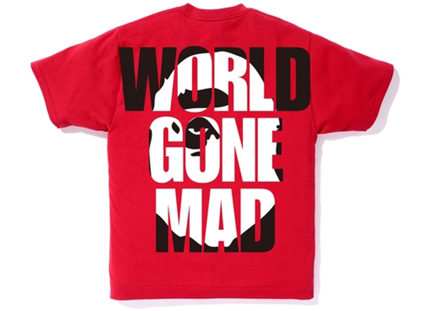 23b42ed7 BAPE World Gone Mad Overlap Tee Red - SS18