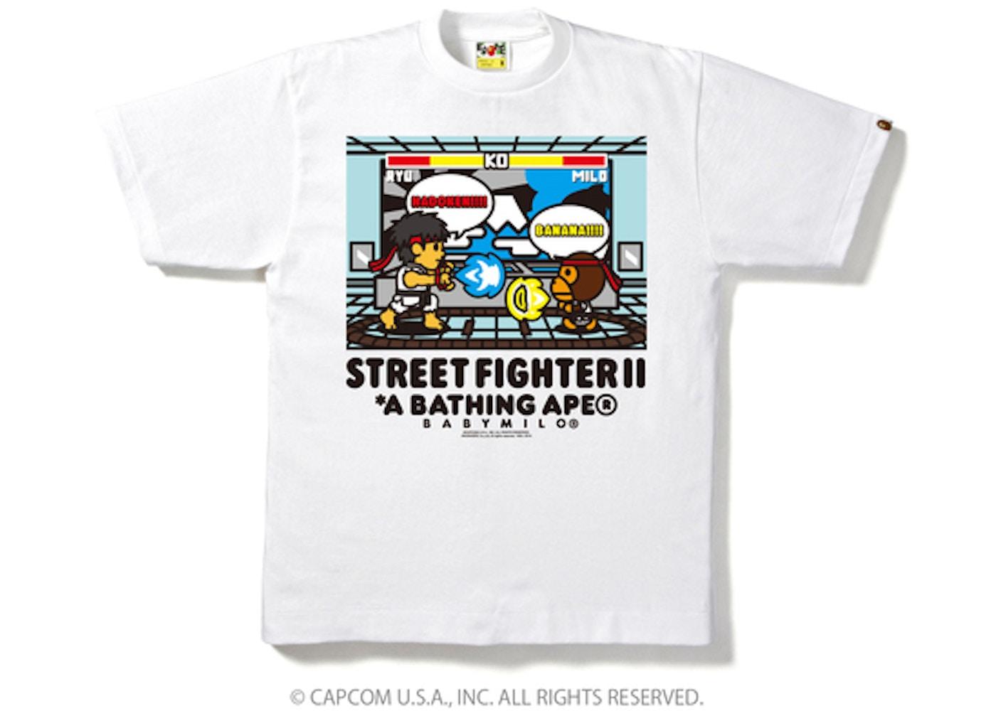 fbf0e17d8 BAPE X Capcom Milo Street Fighter 2 Tee 2 White -