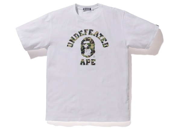 635a40f3a BAPE X Undefeated ABC College ABC Tee White/Green
