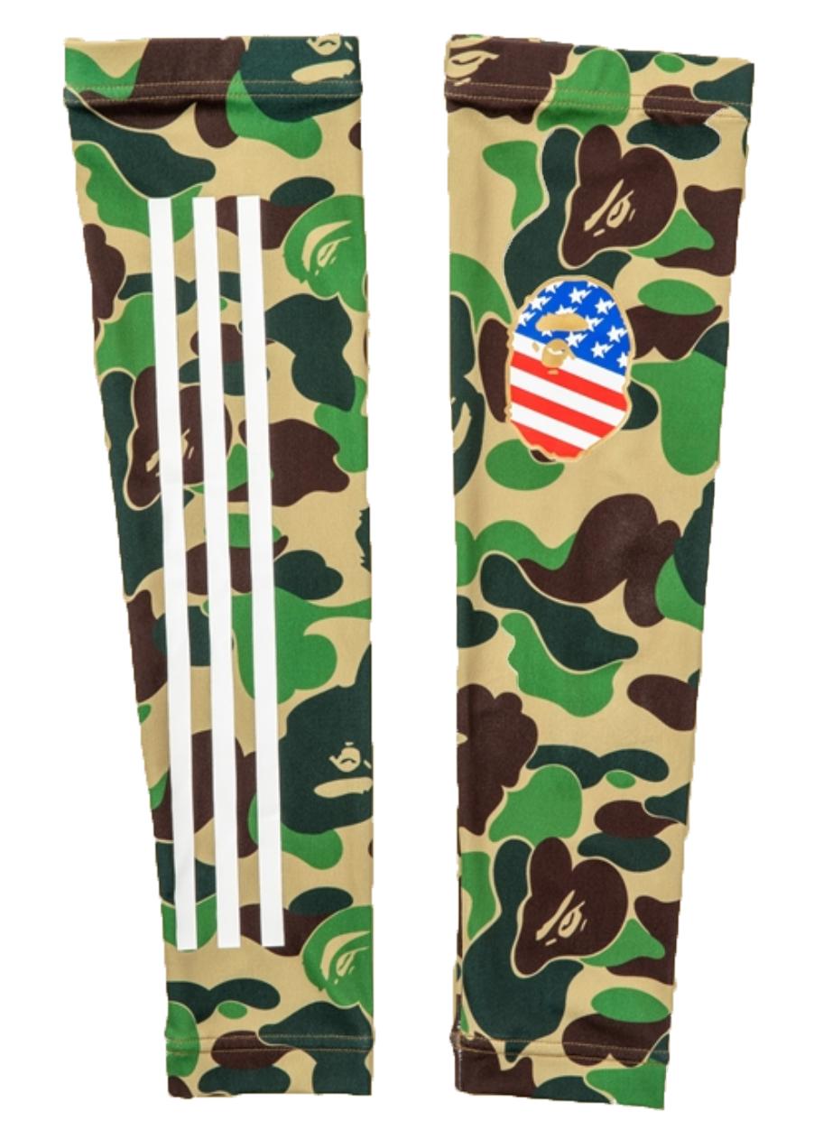 BAPE x Adidas Arm Sleeves Green