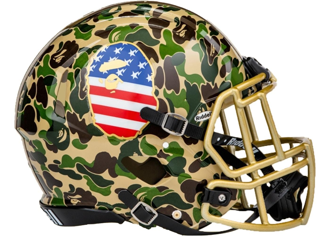 Bape X Adidas Riddell Helmet Green Ss19