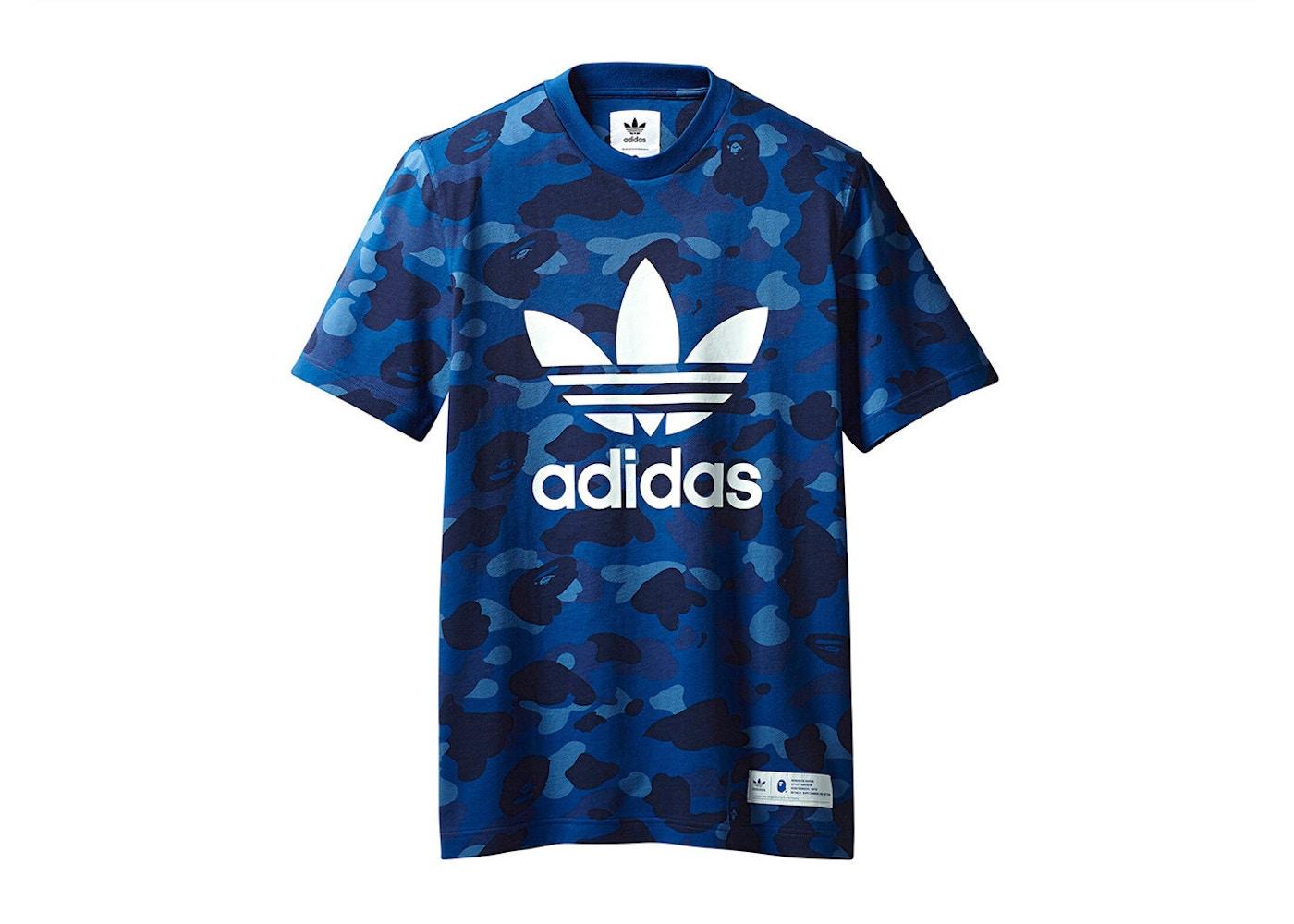 oferta especial nueva llegada comprar online BAPE x adidas adicolor Tee Blue - FW18