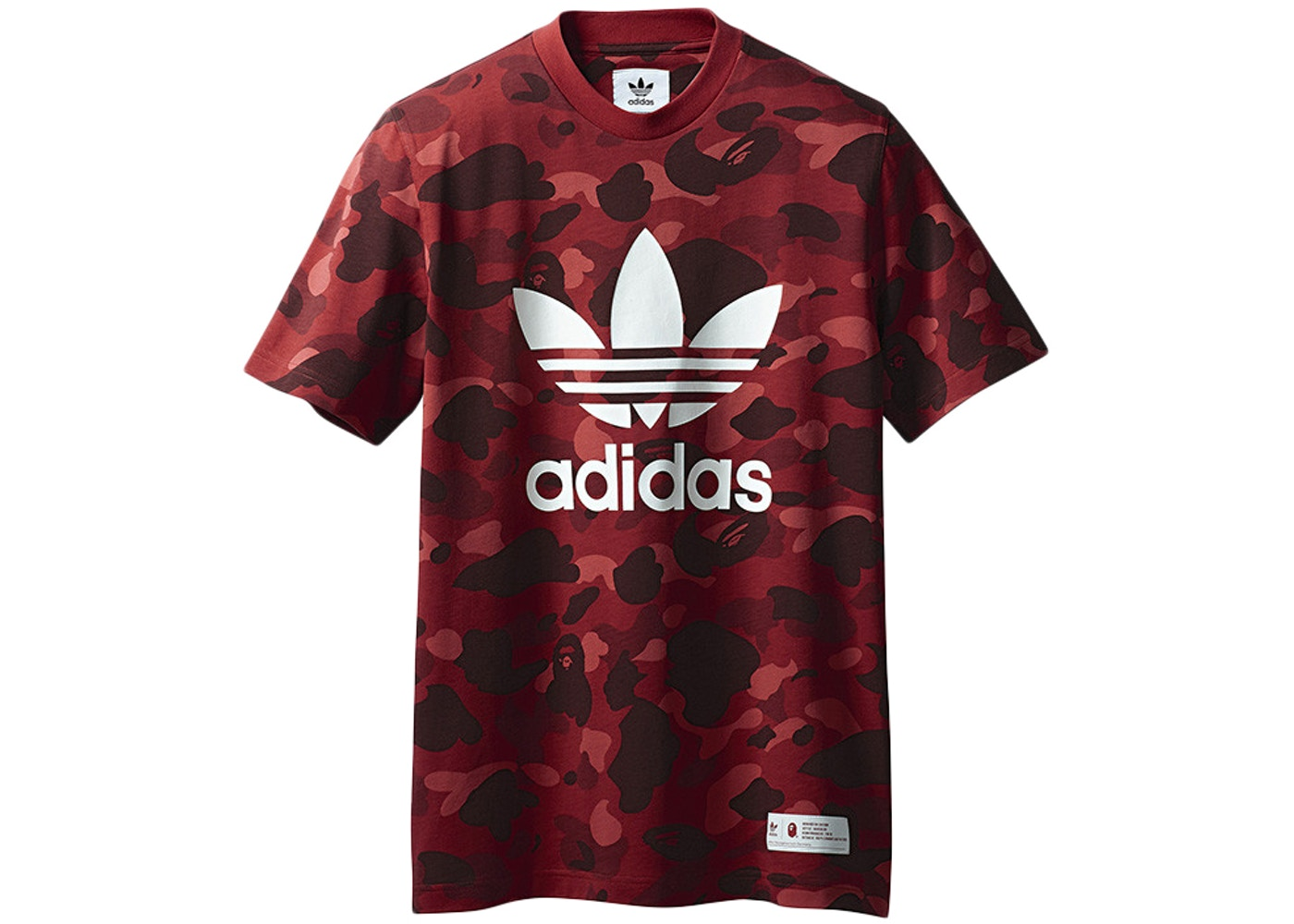 d77473fb BAPE x adidas adicolor Tee Raw Red - FW18