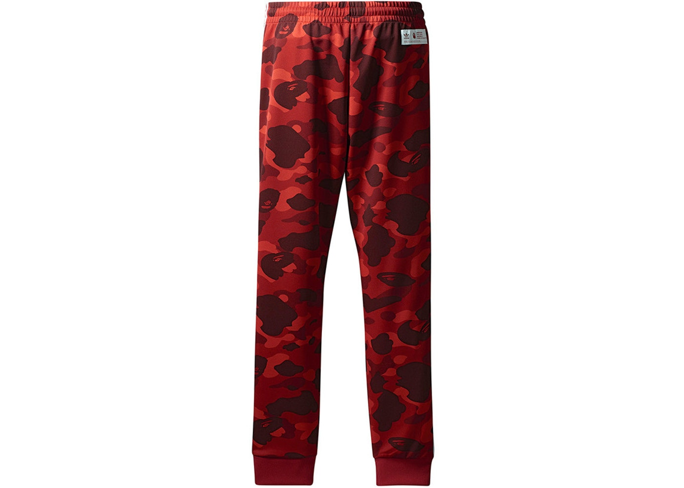 9cc87e085 BAPE x adidas adicolor Track Pants Raw Red - FW18