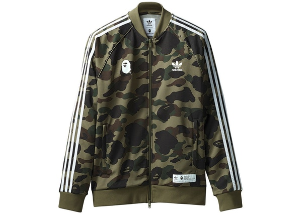 new products 7b54d b97a3 BAPE x adidas adicolor Track Top Olive Cargo