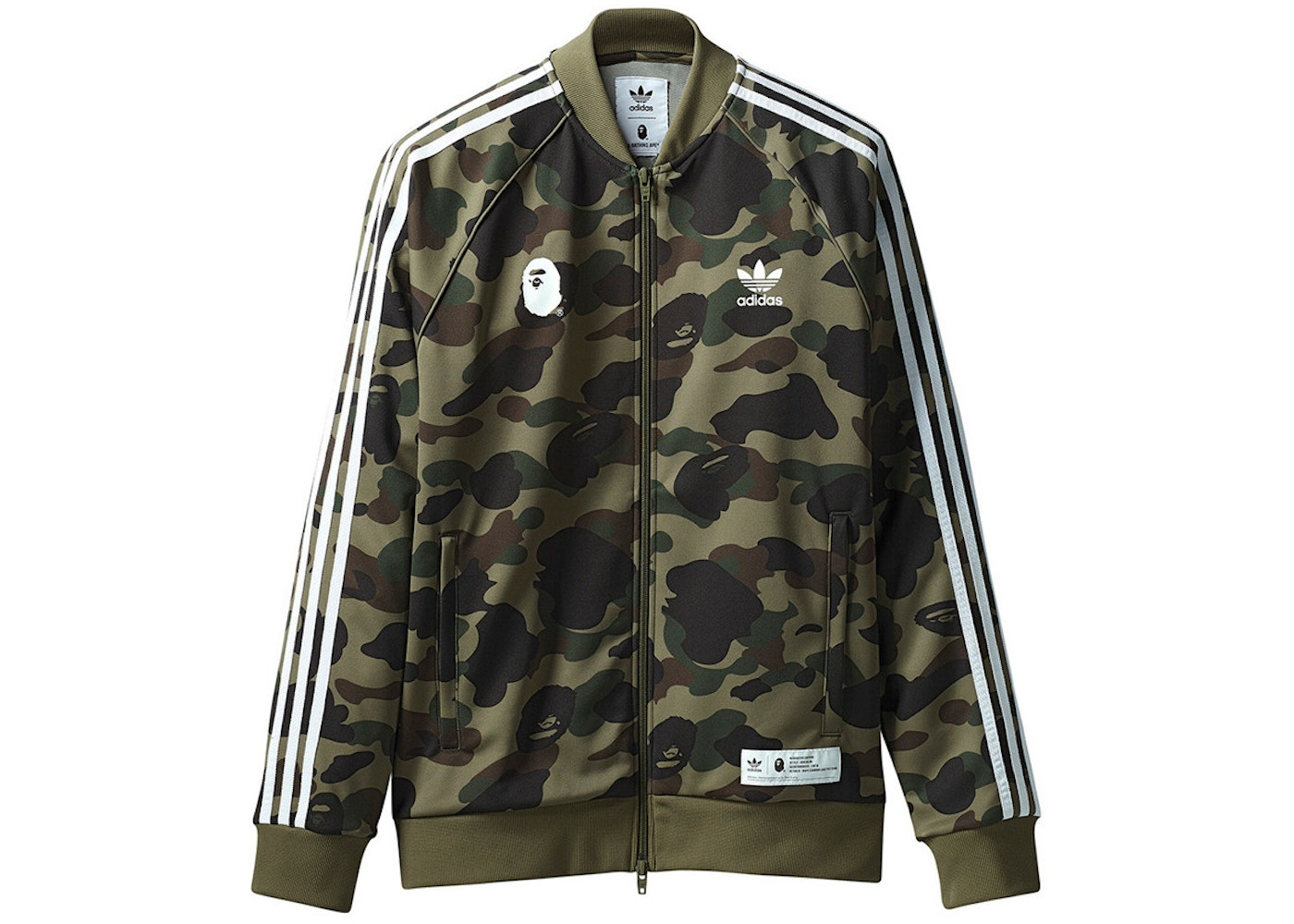 new products c6a5b aa176 BAPE x adidas adicolor Track Top Olive Cargo