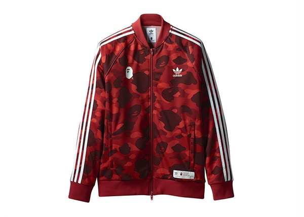 4868b2621562 BAPE x adidas adicolor Track Top Raw Red