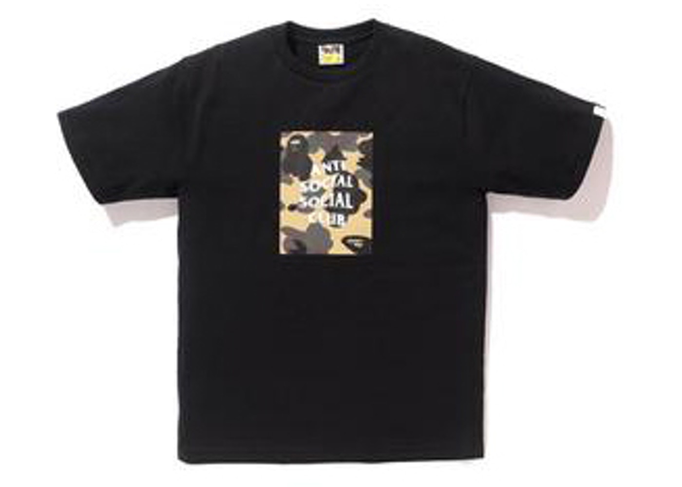 f0f8ef7e BAPE x Anti Social Social Club 1st Camo Box Tee Black/Yellow Camo - SS17