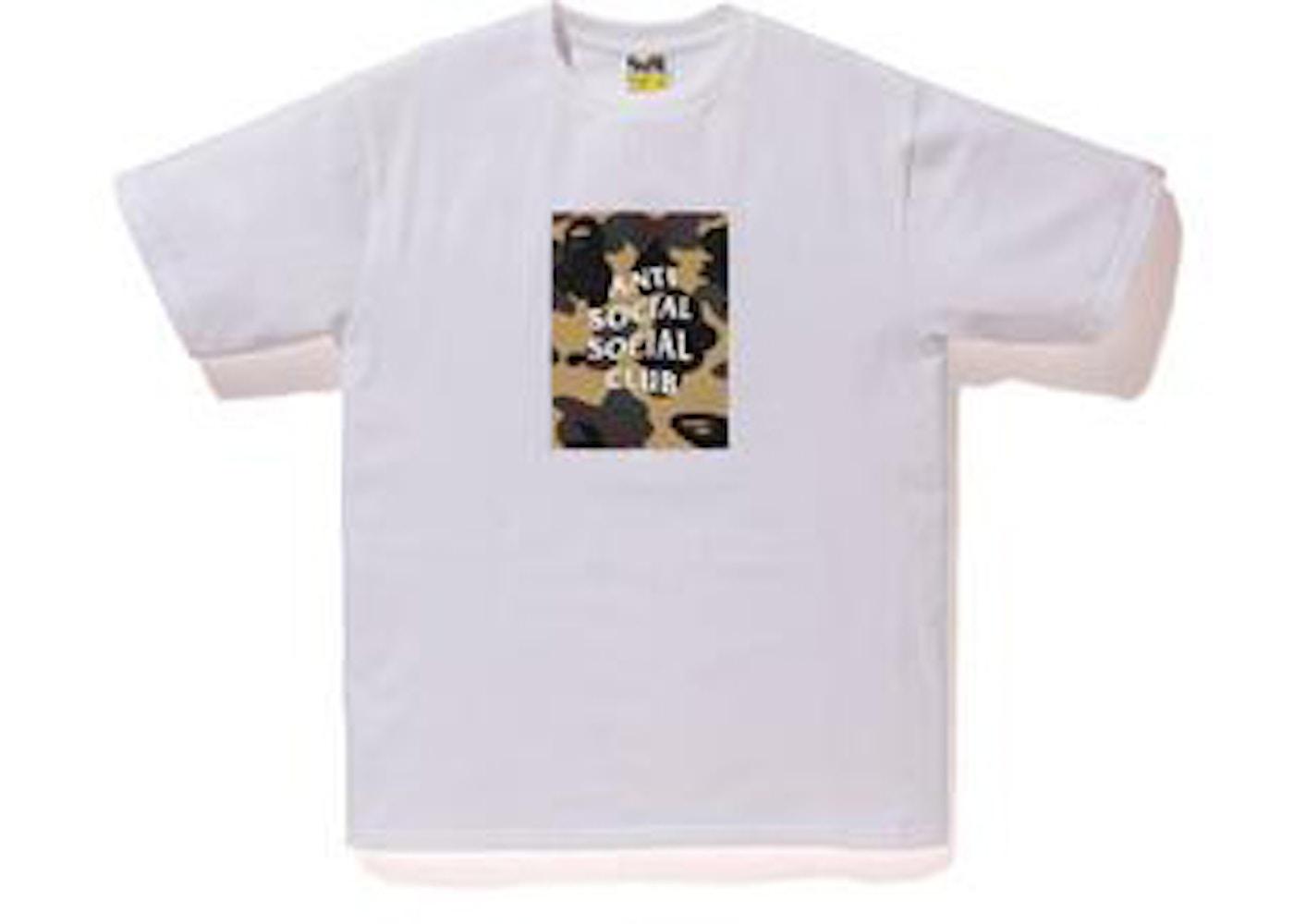 f57f98d4 BAPE x Anti Social Social Club 1st Camo Box Tee White/Yellow Camo - SS17