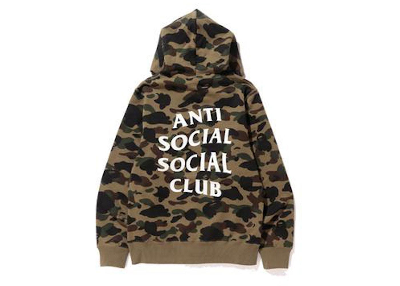 f560c32c425e BAPE x Anti Social Social Club 1st Camo Pullover Hoodie Green Camo ...