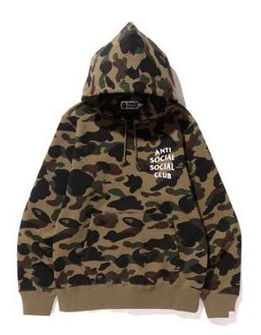 BAPE x Anti Social Social Club 1st Camo Pullover Hoodie (FW19) Green Camo
