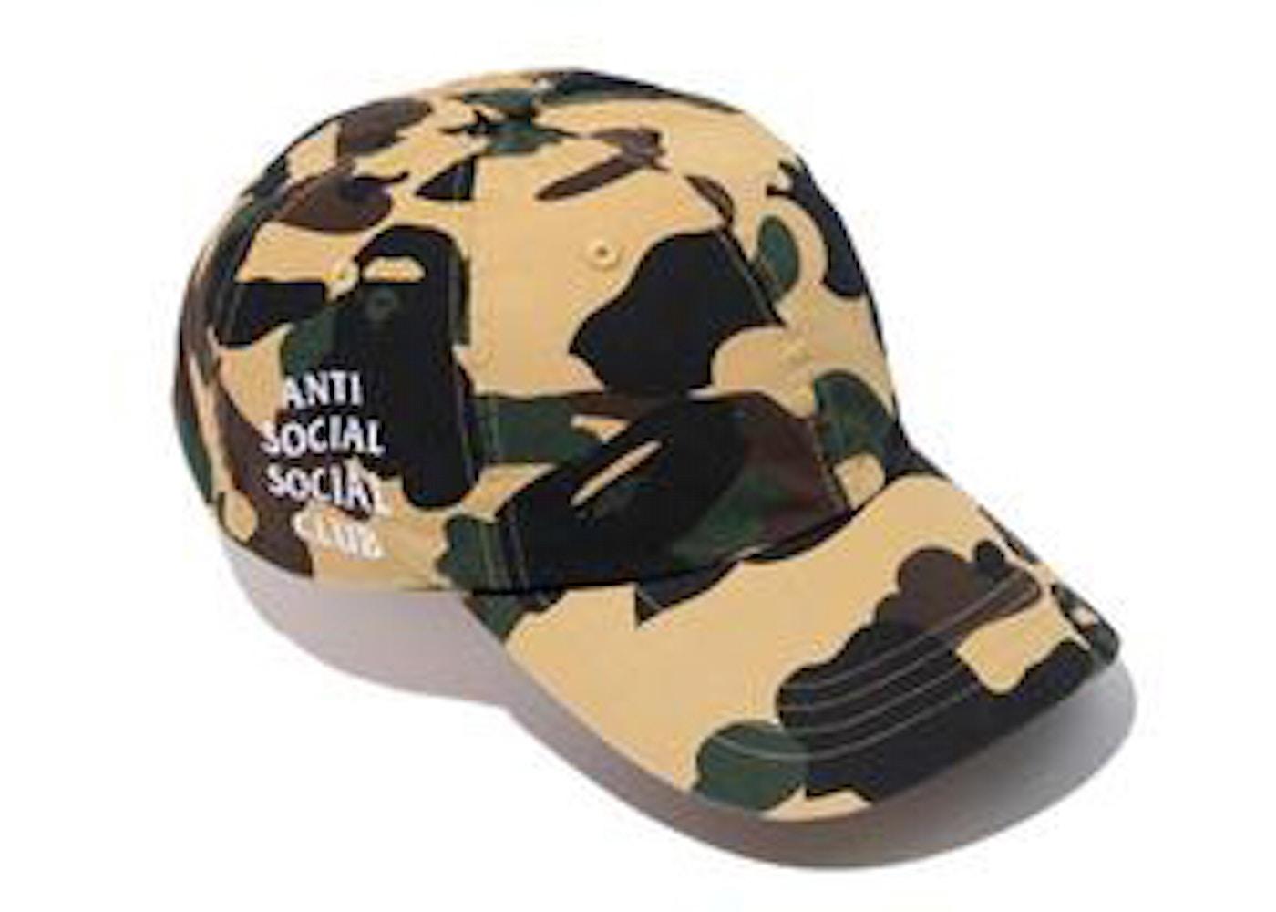 BAPE x Anti Social Social Club 1st Camo Strapback Hat Yellow Camo - SS17 3a084b8225f