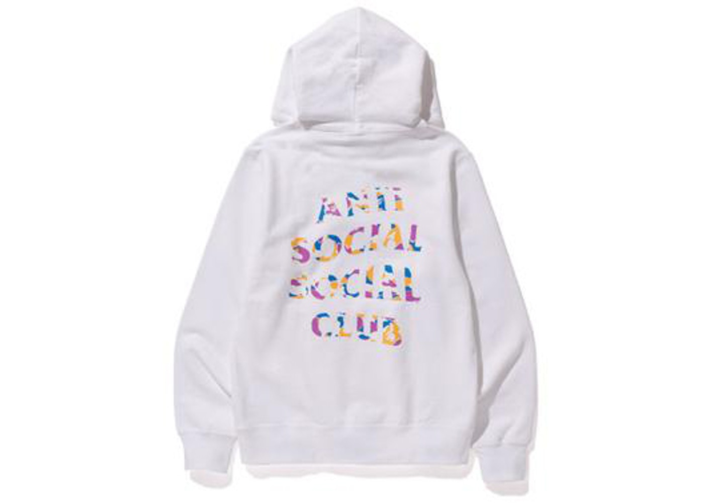 4896b9db2065 BAPE x Anti Social Social Club LA Exclusive City Camo Pullover Hoodie  White Multi