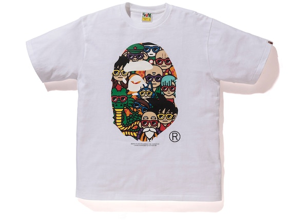 2fd86673 BAPE x Dragon Ball Z LA Exclusive Ape Head T-Shirt White