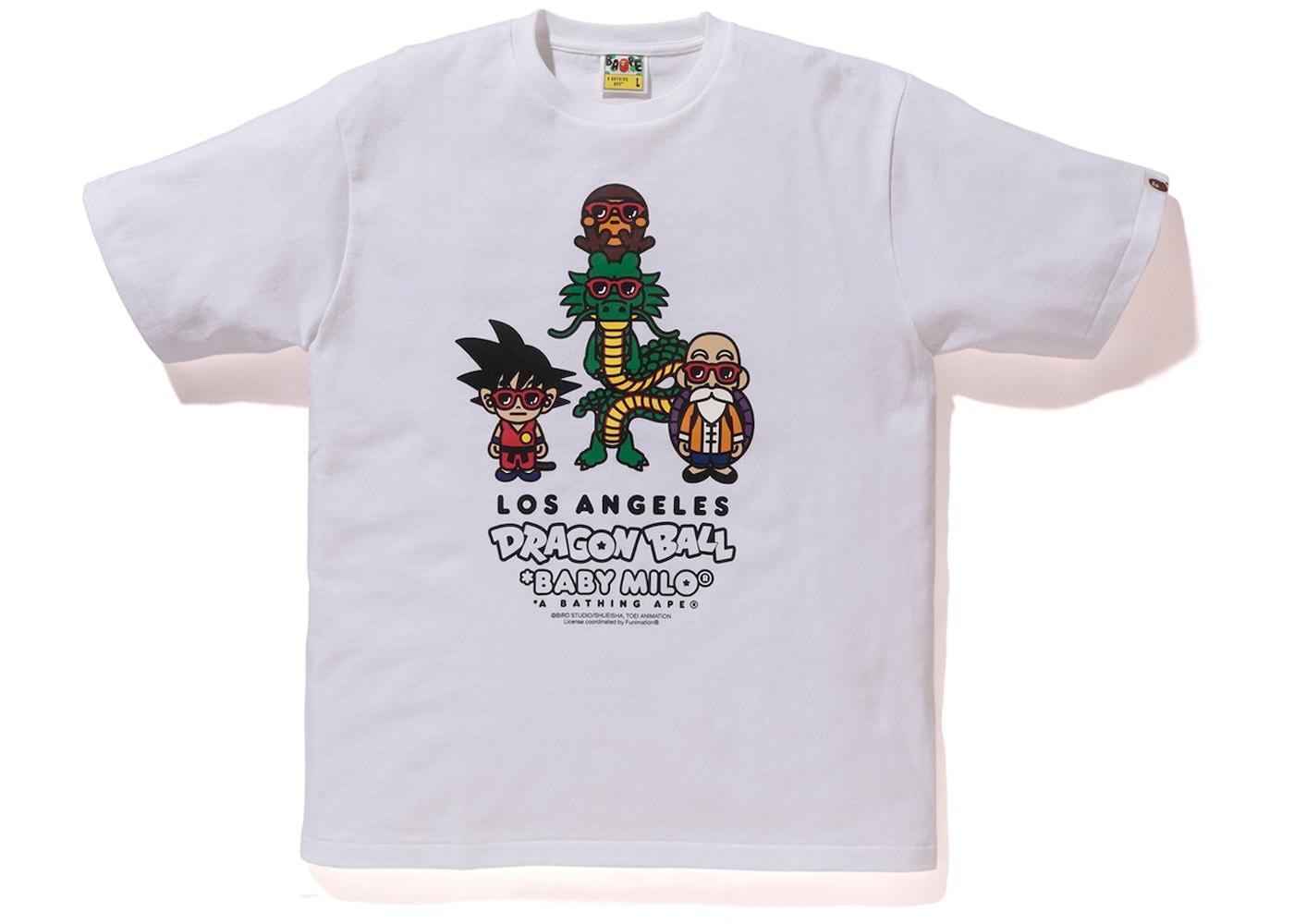 Bape X Dragon Ball Z La Exclusive Baby Milo T Shirt White