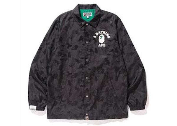 93872b8f78ca BAPE x Heineken 100 Jacquard Camo Coaches Jacket Black