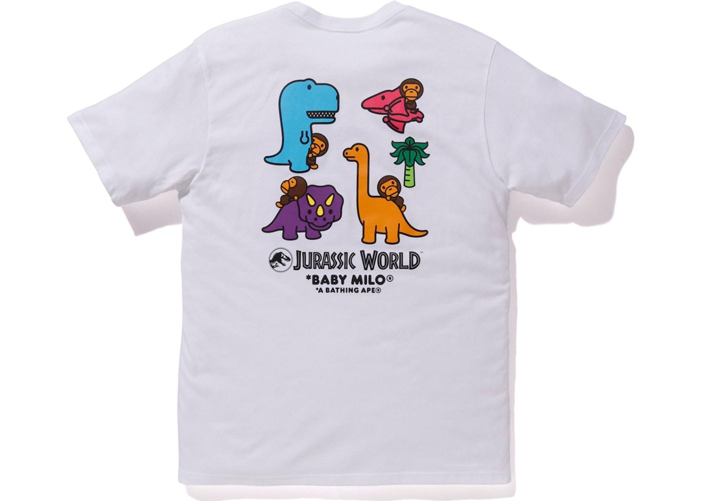 bba7594e BAPE x Jurassic World Baby Milo Dinosaur Tee White - SS18
