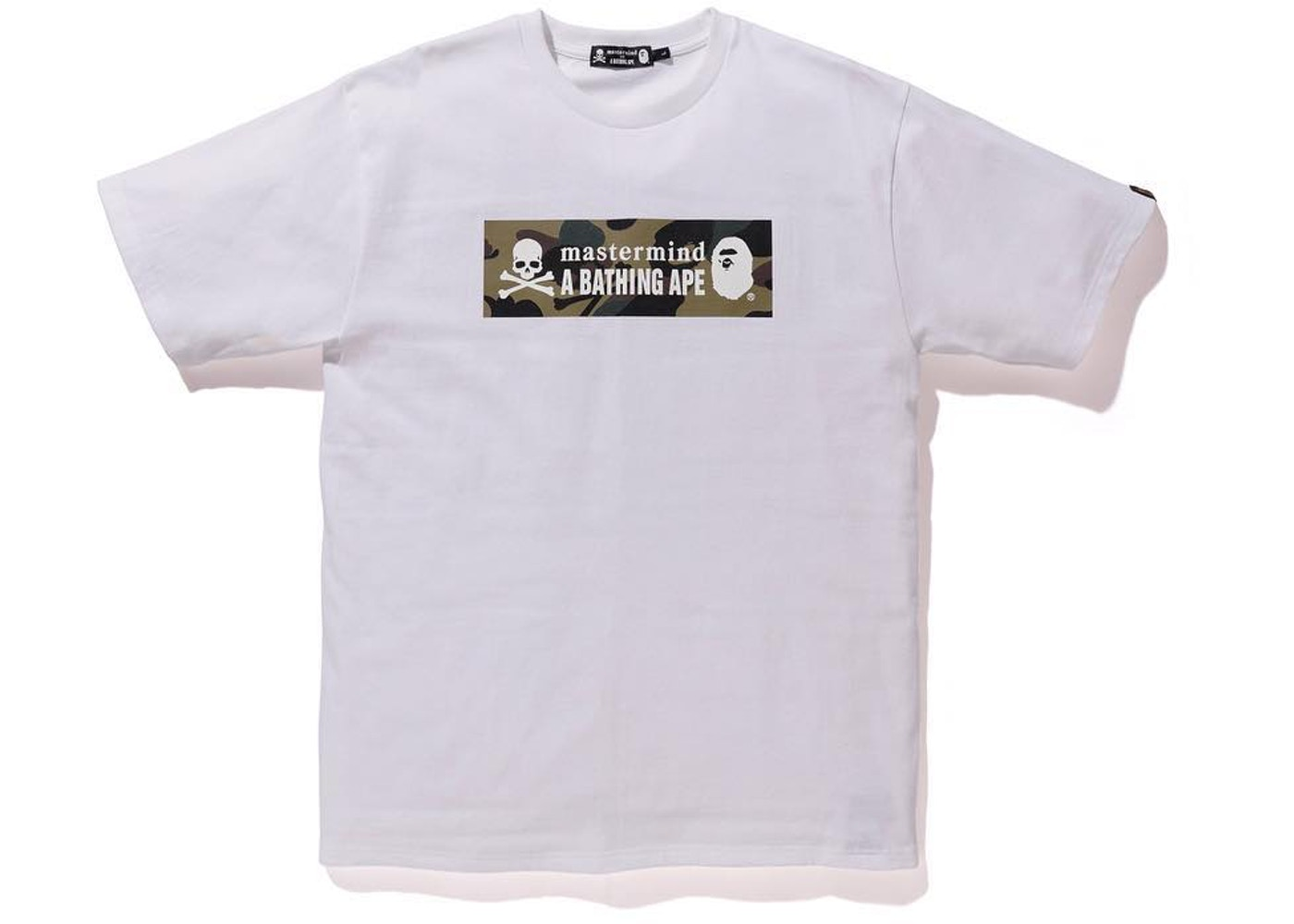 4e0093b82f5 BAPE x Mastermind Japan Camo Logo Tee White Green - SS19