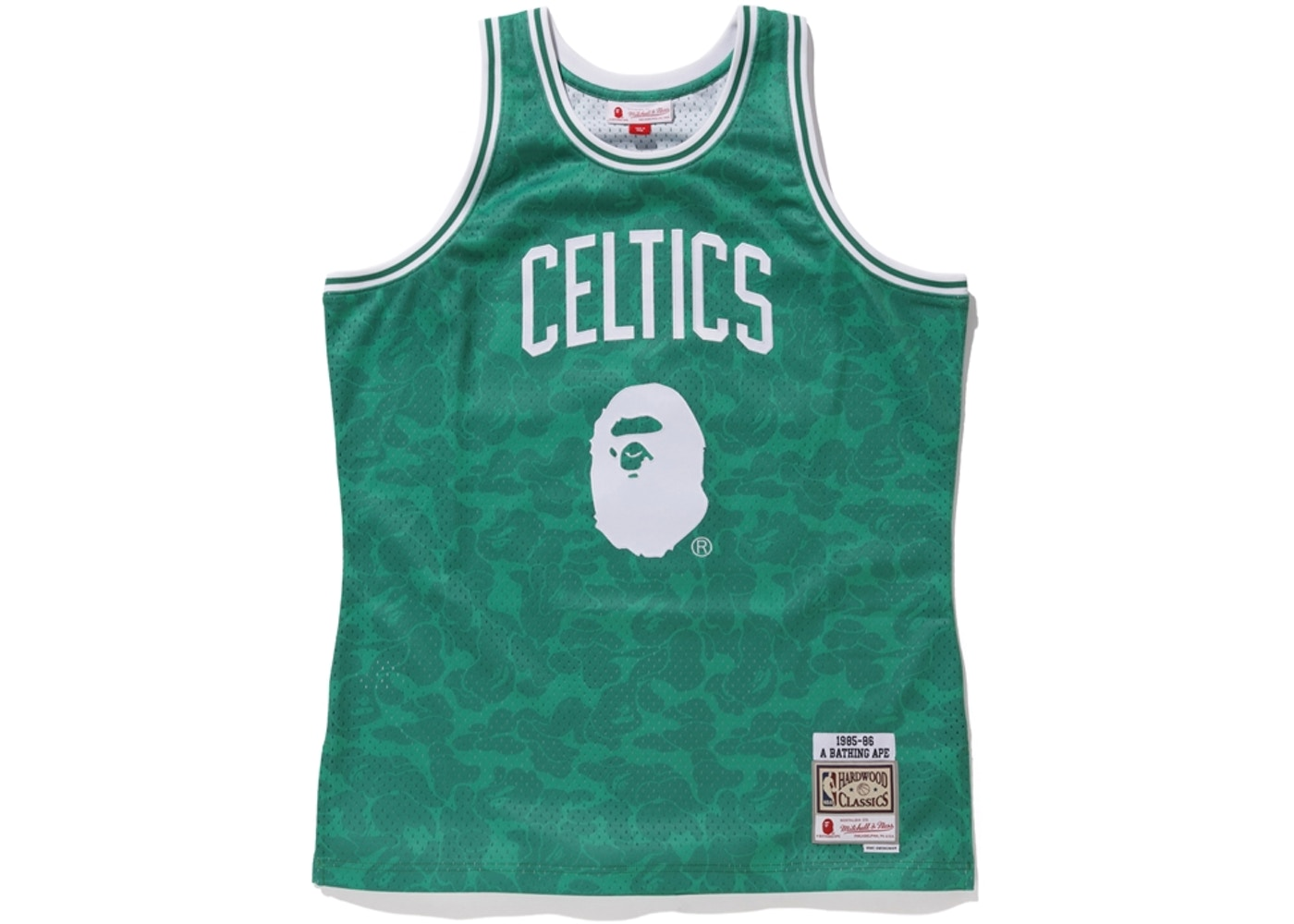 fcc0e25d0c3 BAPE x Mitchell & Ness Celtics ABC Basketball Swingman Jersey Green