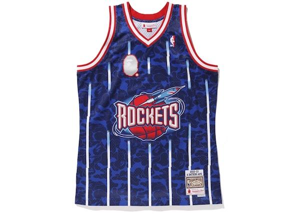 fc1e228f BAPE x Mitchell & Ness Rockets ABC Basketball Swingman Jersey Navy