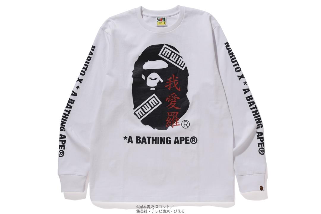 BAPE x Naruto Ape Head L/S Tee White