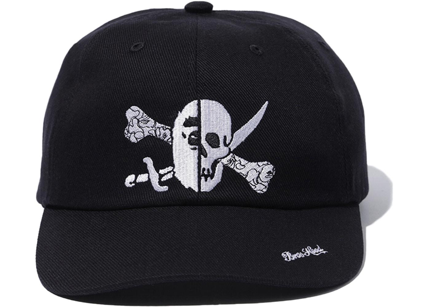premium selection 31603 6d81d BAPE x Neighborhood Ape & Skull Cap Black