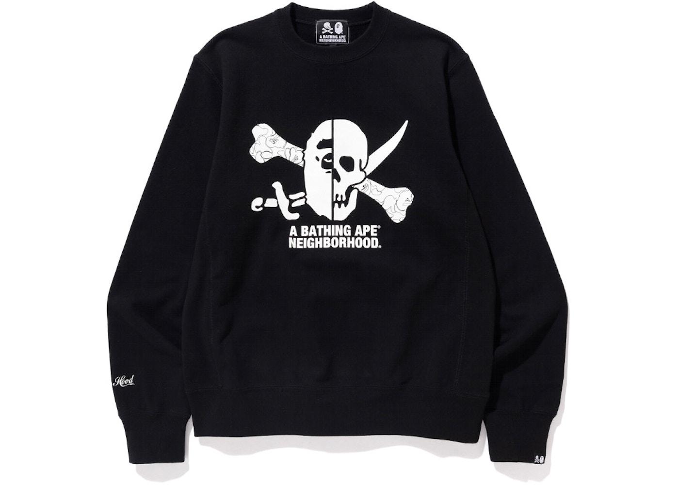 online retailer 6a0e4 7a215 BAPE x Neighborhood Ape & Skull Crewneck Black