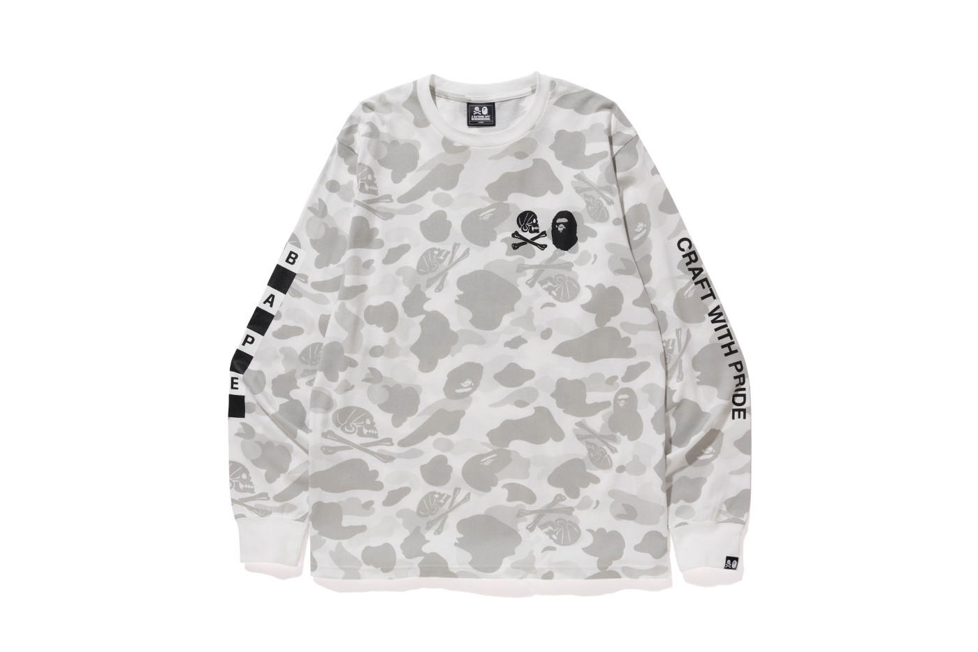 outlet store c31d2 82fe4 X Neighborhood Camo Long Sleeve Tee White