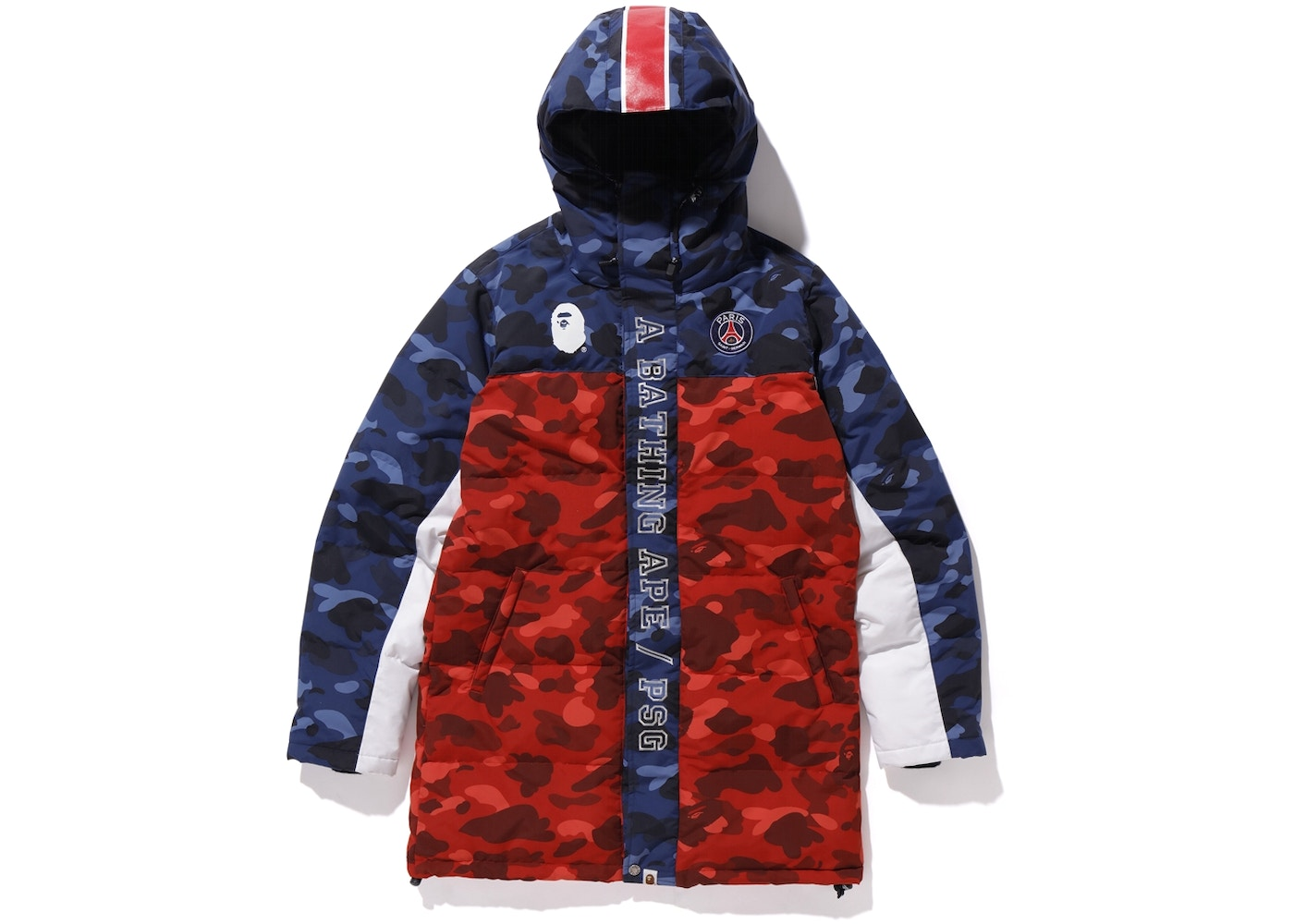 84614748 BAPE x PSG Long Down Jacket Navy - FW18
