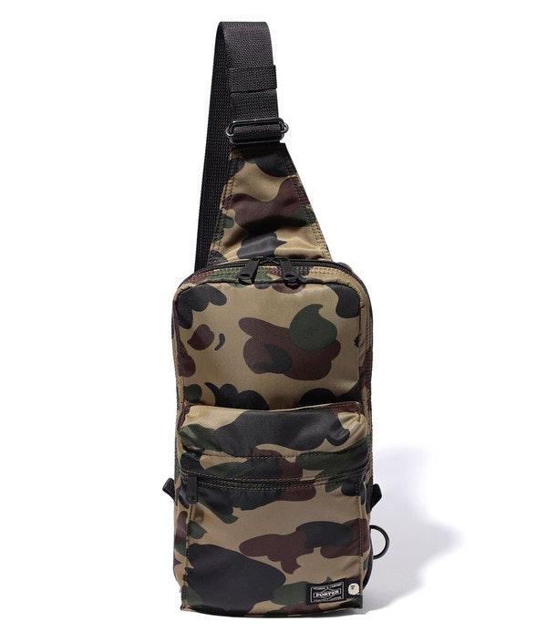 BAPE x Porter 1st Camo One Shoulder Bag Green