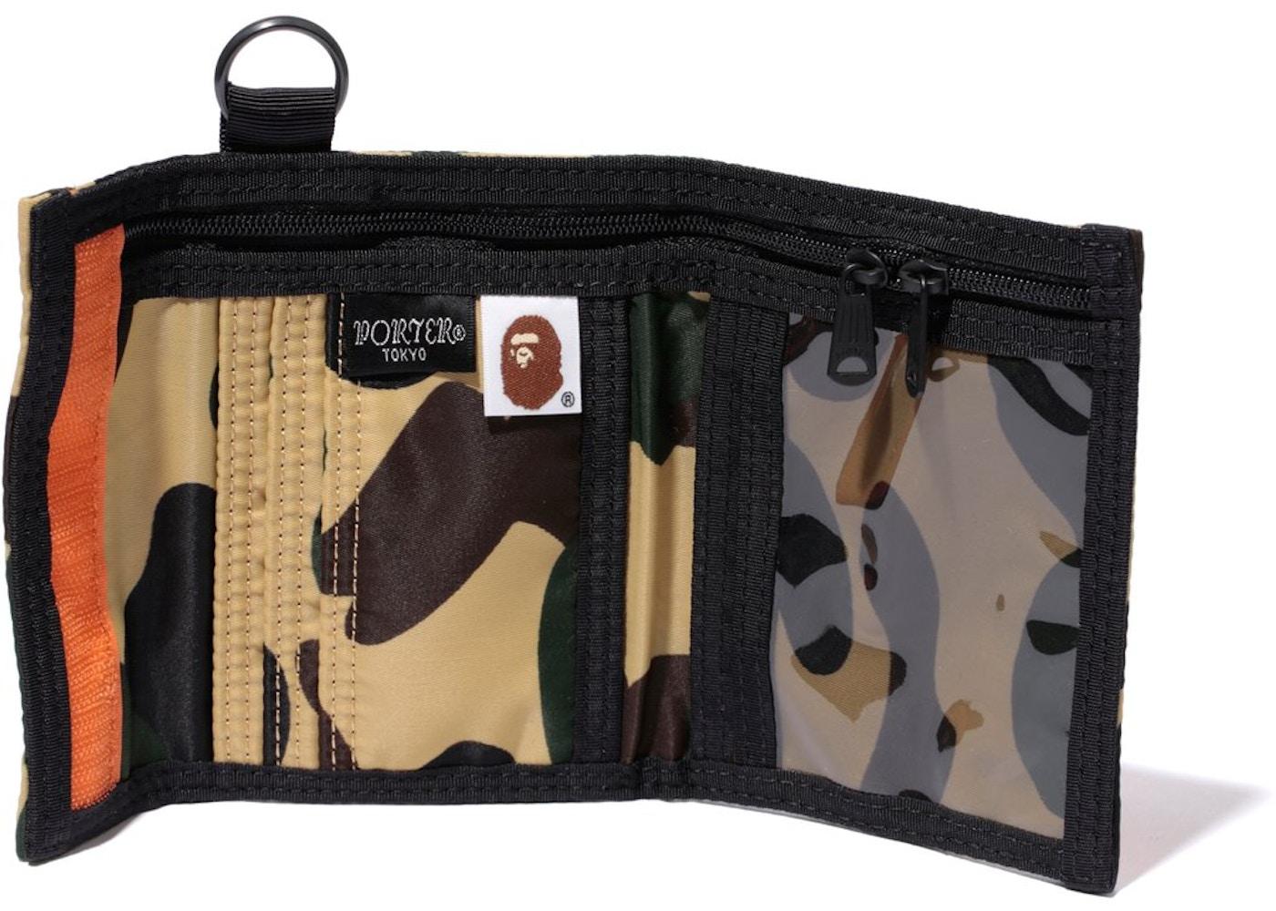 10c49bc8 BAPE x Porter 1st Camo Wallet Yellow - SS18