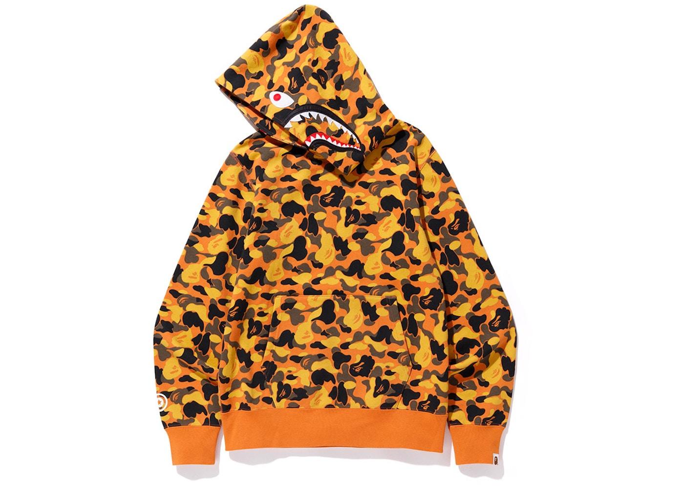 5e18028f BAPE x XO Shark Pullover Hoodie Orange. x XO Shark Pullover