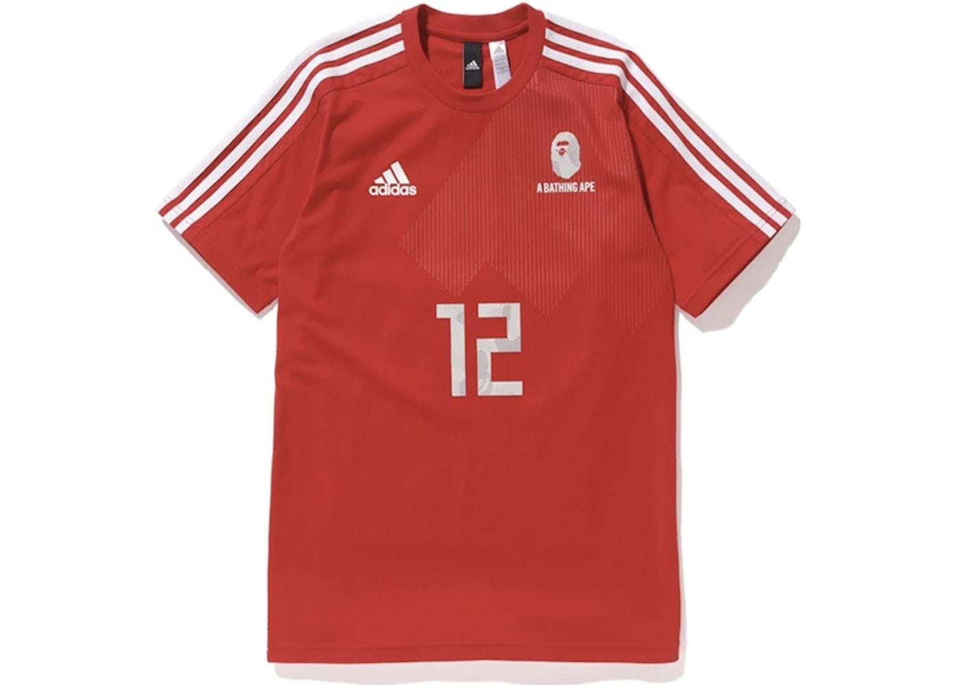 d4cd9c3e3 BAPE x adidas World Cup 2018 Winning Collection Football Top Red