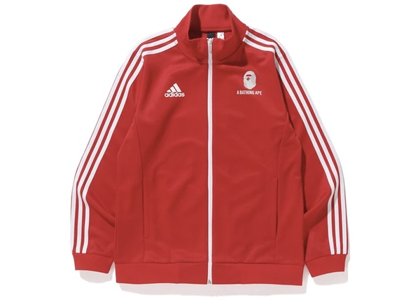 462e0634 BAPE x adidas World Cup 2018 Winning Collection Zip Up Track Jacket Red