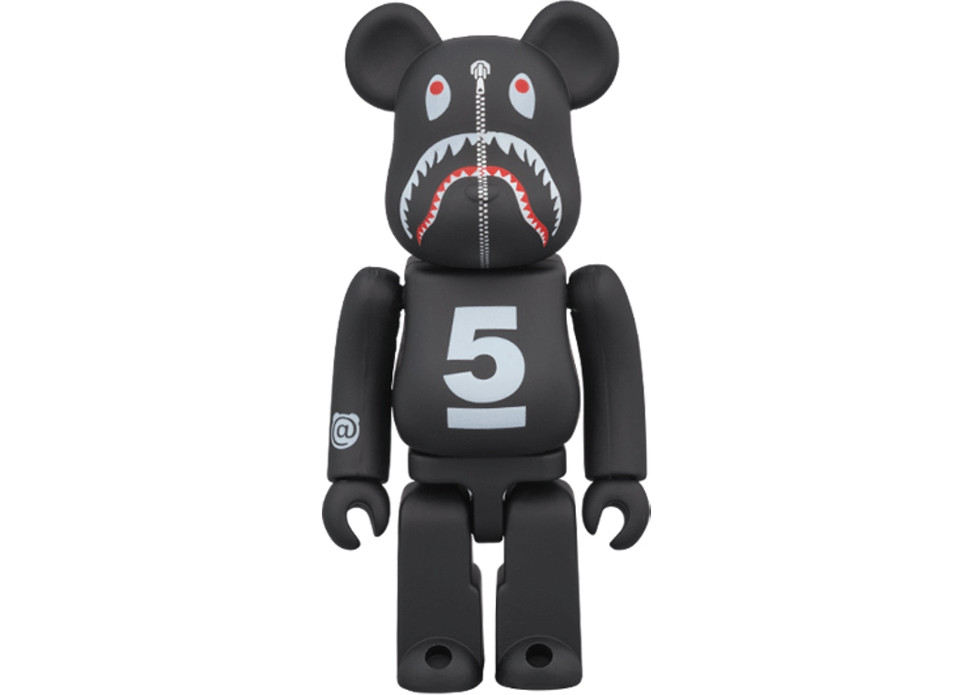 Bearbrick X Bape Dsmg 5th Shark 100 Percents Black by Stock X